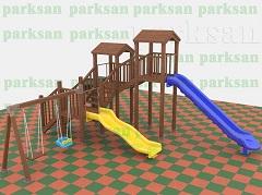 211 - Ahşap Çocuk Oyun Parkı - (Eko Seri)