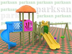 252 - Ahşap Çocuk Oyun Parkı -  (Klasik Seri)
