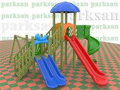 254 - Ahşap Çocuk Oyun Parkı - (Klasik Seri)