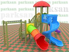 255 - Ahşap Çocuk Oyun Parkı - (Klasik Seri)