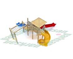 226 - Ahşap Çocuk Oyun Parkı -  (Narin Serisi)