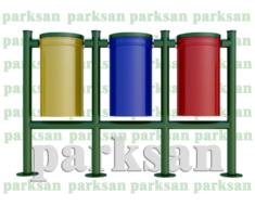 Dış Mekan Geri Dönüşüm Çöp Kovası - 506