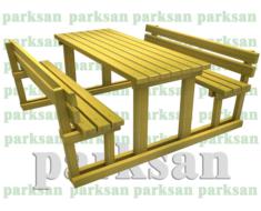 Piknik Masası - 457 (Ahşap Masa)