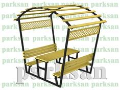 Çatılı Piknik Masası - 464 (Metal Pergole)