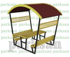 Çatılı Piknik Masası - 466 (Metal Taşıyıcı)