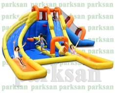 1154 - Şişme Oyun Parkı ( 2' li Sulu Kaydıraklı Aktivite Merkezi)